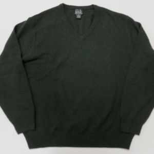 Jos A Bank Lambswool V-Neck Green Sweater Mens XL